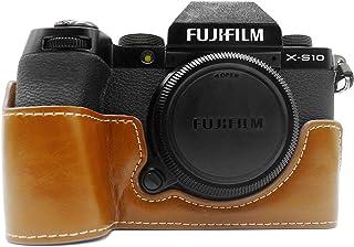 FUJI X-S10 etui, MUZIRI KINOKOO etui ze skóry PU kompatybilne z FUJI X-S10 etui ochronne Fujifilm XS10 etui uchwyt - brązowy