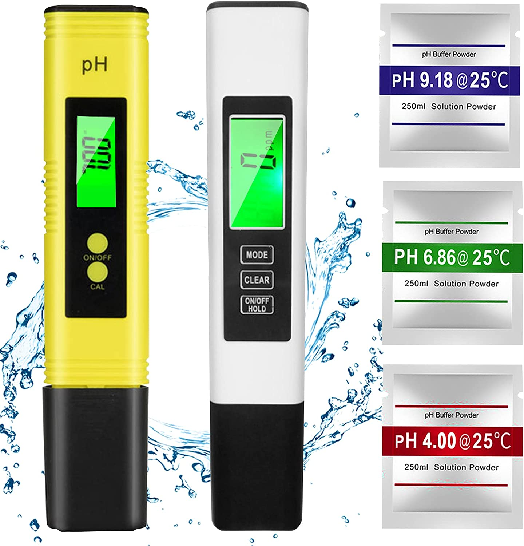 DONGQI Medidor pH, TDS EC Temperatura 4 en 1 Digital Medidor de Prueba de Calidad del Agua, Medidor pH Piscina Pantalla LCD Retroiluminada para Piscina, para Agua Potable, Acuario, Piscina, SPA