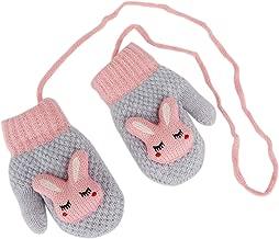 Toddler Kids Winter Warm Thick Full Finger Gloves Children Assorted Color Magic Ski Gloves Mittens