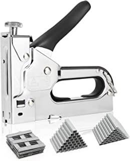 Akface Staple Gun, 3 in 1 Heavy Duty Manual Nail Gun with 3000 Staples (D, U and T Type) for Upholstery,DIY, Fastening Material, Decoration, Carpentry, Furniture