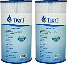 Tier1 817-0014 R173584, Leisure Bay, Dynasty Spas, Waterway, Pleatco PLBS60, Filbur FC-2970, Unicel C-5345 Comparable Replacement Filter Cartridge (2-Pack)