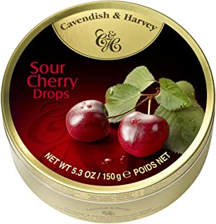 Cavendish & Harvey Fruit Candy Tin, Sour Cherry, 5.3 Ounce (Pack of 12)