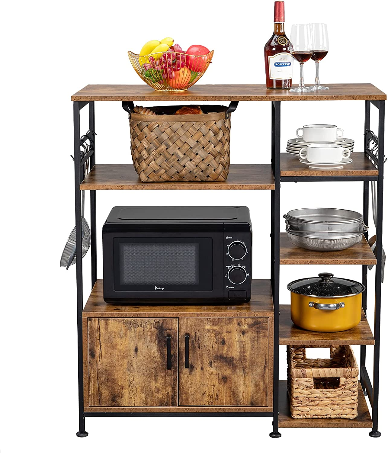 5-Tier Kitchen Bakers Rack Multiuse Oven Microwave Portland Mall Stand Cheap Storage