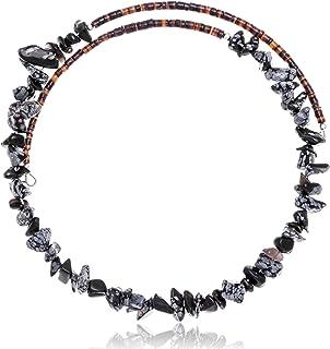Native-Bay $130Tag Snowflake Obsidian مرخص Navajo قابل للتعديل قلادة 25567 صنع بواسطة Loma Siiva