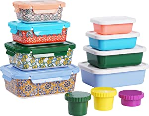 22 Pieces Airtight Food Storage Containers Set - BPA Free Kitchen and Pantry Organization Meal Prep Lunch Container with Durable Leak Proof Lids,Dishwasher Safe, Fridge and Freezer Friendly