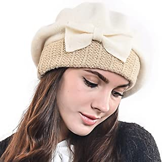 Lady French Beret 100% Wool Beret Chic Beanie Winter Hat HY023 01fe13d43212