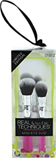 Real Techniques Mini Eye Duo Ornament Brush for Application of Mineral & Powder Foundation, Ideal For Holiday Gifts (Pack of 1)