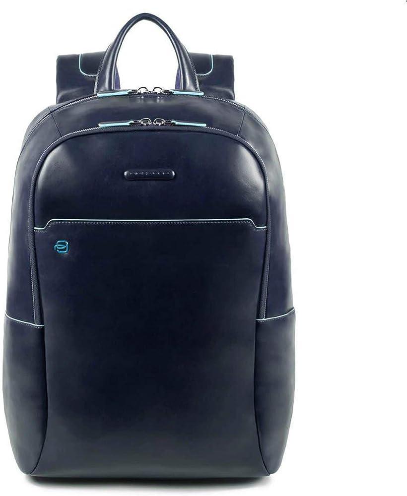 Piquadro, zaino porta pc portatile, tablet, laptop, in pelle CA4762B2/BLU2