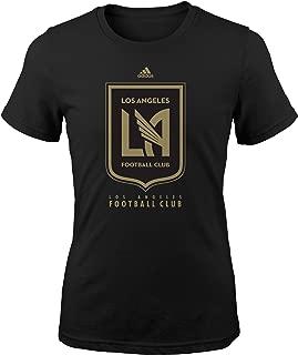 Outerstuff MLS La Football Youth Girls Logo Pride Short Sleeve Tee, M(10-12), Black