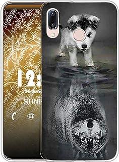 Sunrive fodral, alcatel 3x (2020), wolf-dog