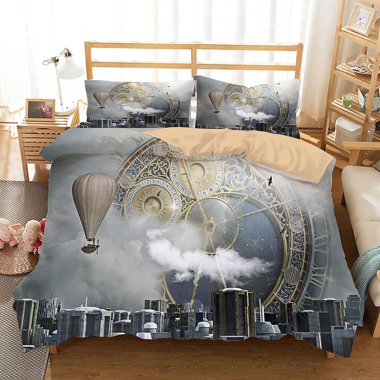 Steampunk City Clock Bedding Set Fi Fantasy Kids New mail order 40% OFF Cheap Sale Sci