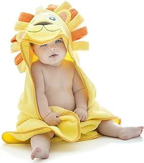 Little Tinkers World - Toalla de baño con capucha, diseño de león ultra absorbente y duradera, perfecta para niñas y niños