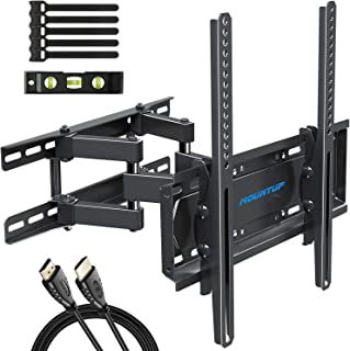 MOUNTUP TV Wall Mounts - Full Motion TV Wall Mount for 26-55 Inch Flat Screens and Curved TVs up to 88 LBS, Wall Mount TV ...