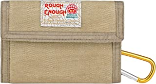 Rough Enough Hunting Canvas Mens Wallet for Boys Teen with Zipper Coin Purse Pouch Change Credit Card Holder Large Capacit...