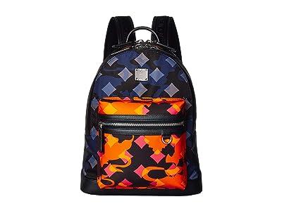 MCM Dieter Munich Lion Camo Nylon Backpack 32 (Multi) Backpack Bags