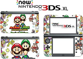 Mario Luigi Superstar Saga Bowser's Minions Video Game Vinyl Decal Skin Sticker Cover for the New Nintendo 3DS XL LL 2015 System Console
