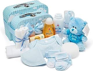 Bebé caja y Set de regalo azul azul Talla:x-large