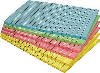 نوتات لاصقة مبطنة، 4 × 6، 6 حزم، 300 ورقة (50 / حشوة)، ملاحظات ذاتية اللصق مع خطوط، 4 ألوان فاتحة متنوعة، من أفضل المنتجات...