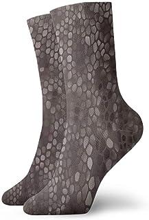 Elsaone, Niños Niñas Locos Divertidos Calcetines clásicos de piel de serpiente Calcetines lindos de vestir de novedad