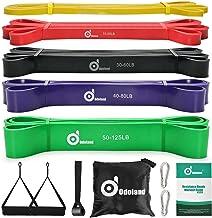 Odoland Fitnessbandenset, pull-up weerstandsband in 5 verschillende treksterktes, expander-banden, set incl. optrekband, w...