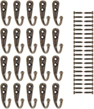 Magiin 20pcs Gancho Rústico Retro Pequeño de Aleación Incluido Tornillo para Montaje, Colgar, para Pared, Puerta, Llaves, Sombreros, Ropa