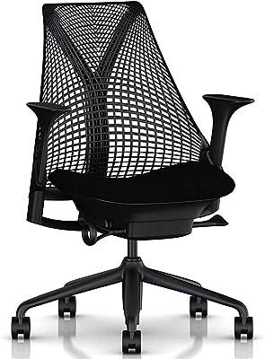 【正規品】 Herman Miller (ハーマンミラー) セイルチェア オフィスチェア ブラック BBキャスター 12年保証 AS1YA23HAN2BKBBBKBK9119