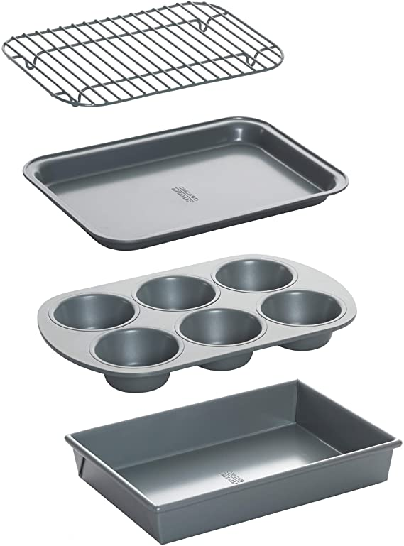 Chicago Metallic 8044 Non-Stick Toaster Oven Bakeware Set