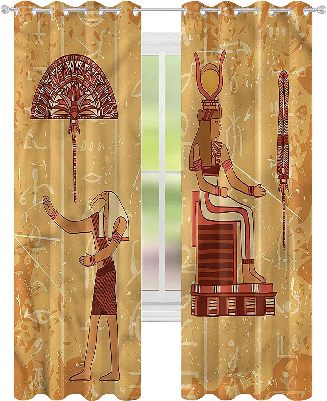 Window Curtain Drape Egyptian Ancient x L Genuine Free Shipping Symbols Hieroglyph W52 Ranking TOP8