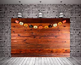 Kate 7X5ft (220cmX150cm) Halloween Background Flag Brown Wood Wall Halloween Photography Backdrop with Pocket