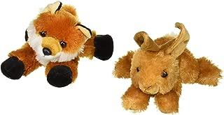 Bundle of 2 Aurora Plush Forest Animals - Bitty Rabbit Bunny and Foxxie Fox Mini Flopsie 8