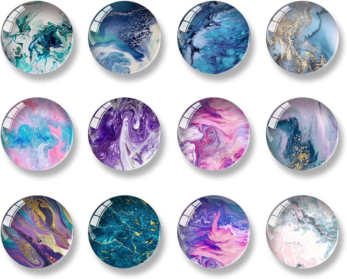 12PCS Fridge price Magnets NEW Round Calendar M Glass Refrigerator