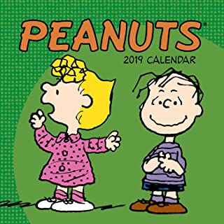 peanuts mini wall calendar 2019