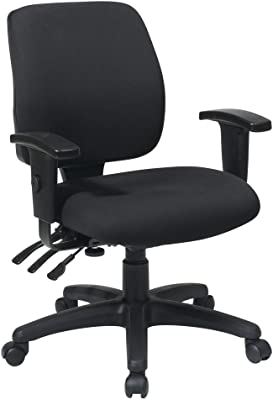 Office Star Mid Back Dual Function Ergonomic Chair with Ratchet Back Height Adjustment with 2-