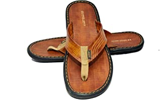 Lee Fox Men Casual Leather Slipper Tan