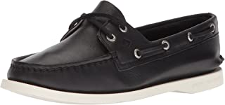 حذاء Sperry Women's A/O 2-Eye Boat Shoe، أسود، 7.5 Medium US