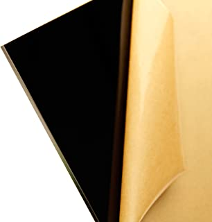 "Cast Acrylic Sheet - .177"" Thick, Black, 12"" x 12"" Nominal"