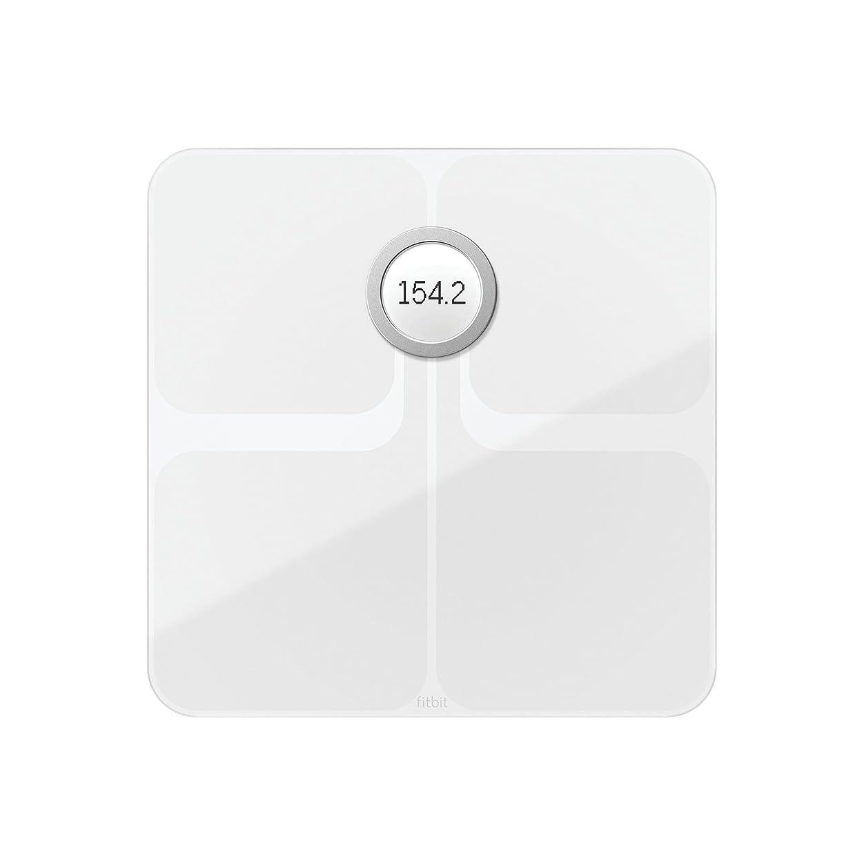 有効化本気暖かくFitbit(フィットビット) Aria 2 Wi-fi/Bluetooth スマートスケール 多機能 体重計 (White)