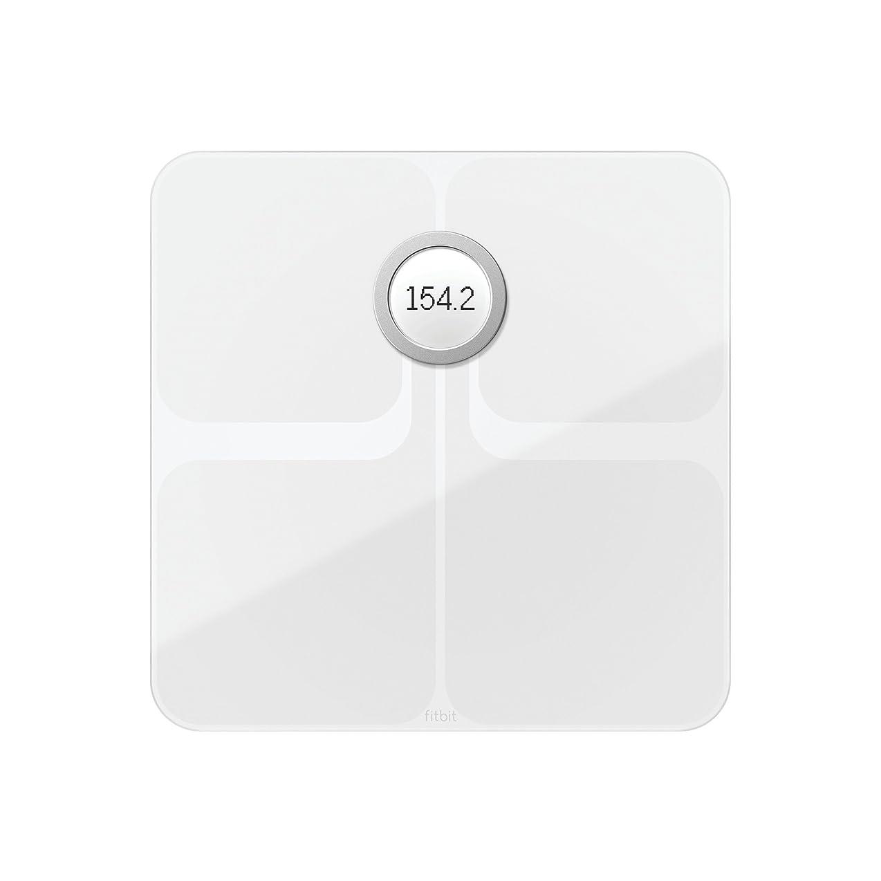 つまずくドリルパットFitbit(フィットビット) Aria 2 Wi-fi/Bluetooth スマートスケール 多機能 体重計 (White)