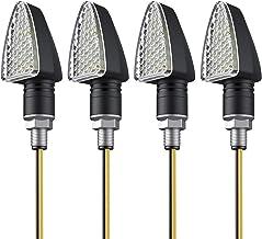 Mini indicatore di direzione LED Anteriore e Posteriore per motociclette Ryde Nero Set da 4