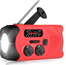 [Upgraded Version] RunningSnail Emergency Weather AM/FM NOAA Solar Powered Wind up Radio with SOS, 2000mAh Power Bank for ...