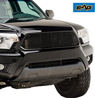 EAG Black Billet Grille+Shell Compatible with 12-15 Toyota Tacoma