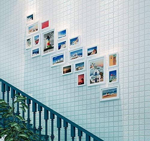 tiendas minoristas DBSCD Madera Foto Parojo Sala de Estar Escalera Moderna Escalera Escalera Escalera Corrojoor Marco de Fotos Parojo Combinación (Color  B)  n ° 1 en línea