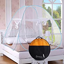 Story at Home Double Bed Foldable Mosquito Net (Queen Size, Blue)