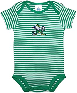 Creative Knitwear University of Notre Dame Fighting Irish Leprechaun Striped Baby Bodysuit