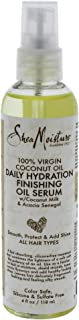 Shea Moisture Virgin Coconut Oil Daily Hydration Finishing Oil Serum For Unisex, 4 Oz.