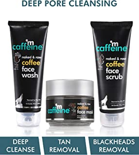mCaffeine Deep Pore Cleansing Regime | Deep Cleanse, Tan Removal, Blackheads Removal | Face Wash, Face Mask, Face Scrub | ...
