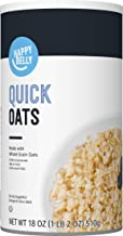 Amazon Brand - Happy Belly Quick Cook Oats, 18 Ounce