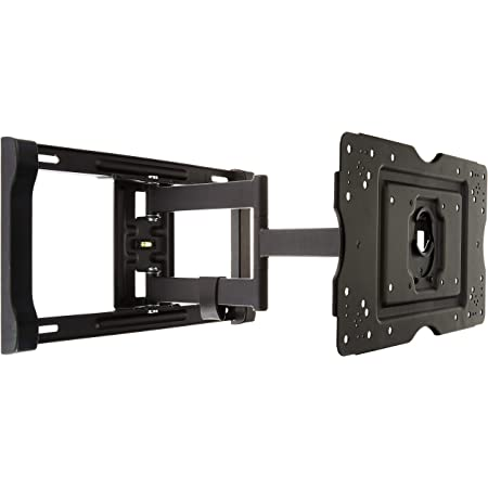 Amazon Basics Heavy-Duty Full Motion Articulating TV Wall Mount for 32-80 inch TVs up to 130 lbs, fits LED LCD OLED Flat Curved Screens