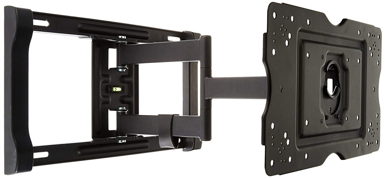 AmazonBasics Heavy-Duty, Full Motion Articulating TV Wall Mount for 32-inch to 80-inch LED, LCD, Flat Screen TVs (Renewed) coumytqopegp7357
