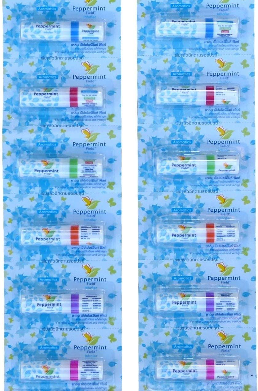 12x Outlet ☆ Free Shipping Peppermint Field Opening large release sale Aromatic Nasal Inhaler Inhalant Vert Relief